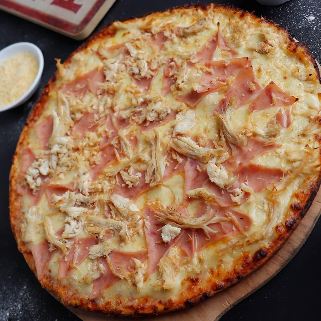 Pizza tradicional Jamón y Pollo - MS_1